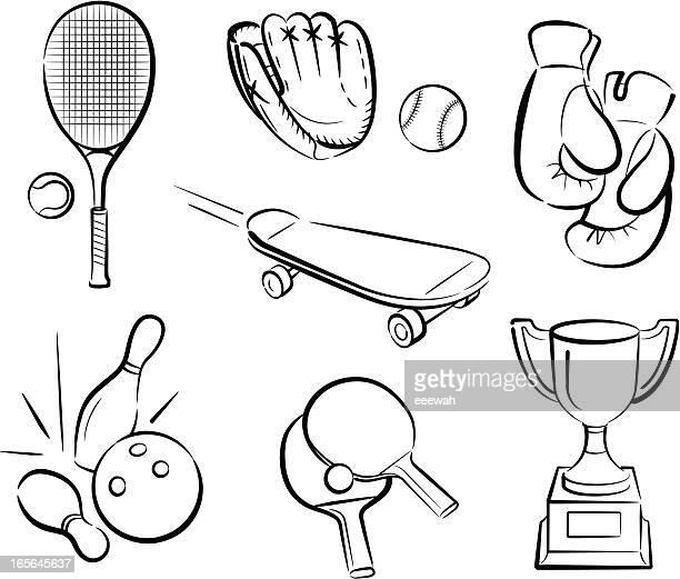 ilustraciones, imágenes clip art, dibujos animados e iconos de stock de deportes 2 - educacion fisica