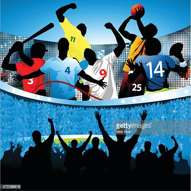 sports all stars - sports team stock illustrations, clip art, cartoons, & icons