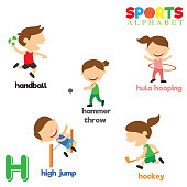 Sports Alphabet with H Letter