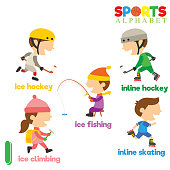 Sports Alphabet with I Letter