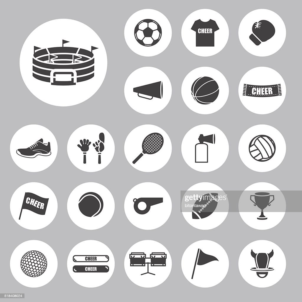 Sports  and cheer In the arena icons