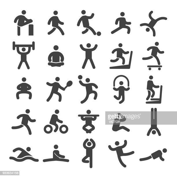 sports and fitness icons - smart series - fitness stock illustrations, clip art, cartoons, & icons