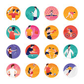 Sports and  Flat Vectors Pack