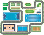 Sports Areas Proportional Dimensions