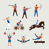 Sports Athletes, Men Set