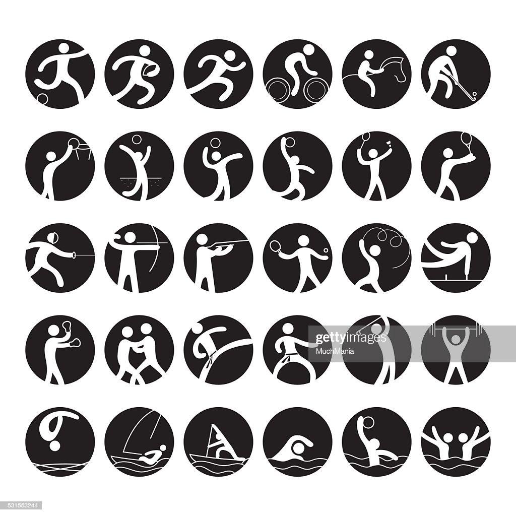 Sports Athletes, Symbol Icon Set