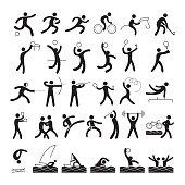 Sports Athletes, Symbol Set