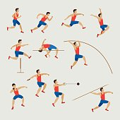 Sports Athletes, Track and Field, Men Set