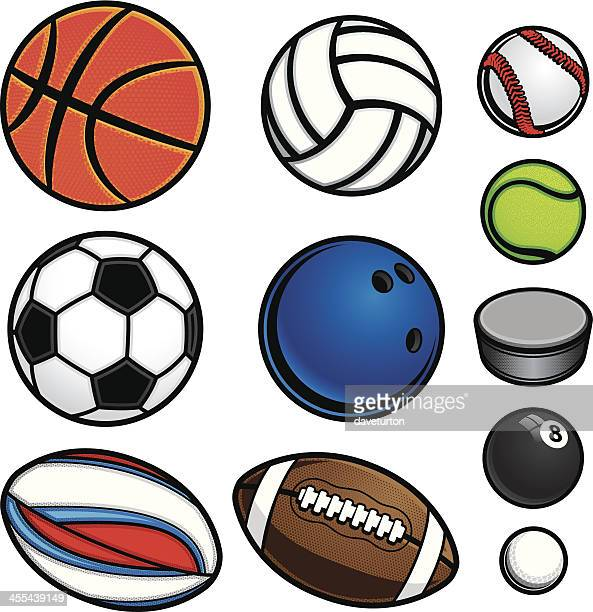 sports ball equipment - rugby ball stock illustrations, clip art, cartoons, & icons