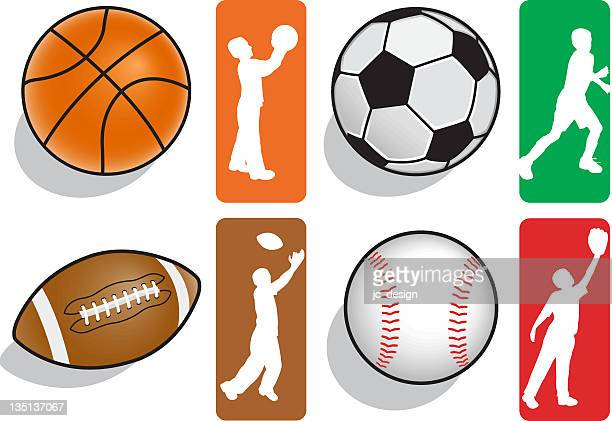 Sports Balls and Silhouettes