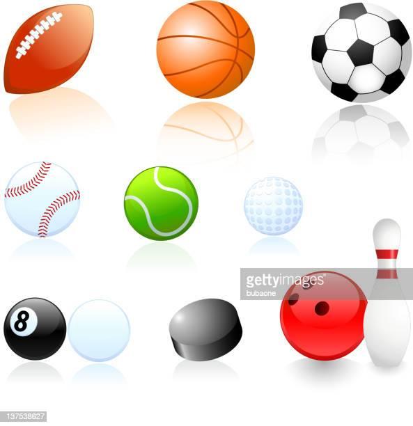 Sport Bälle Illustrationen set