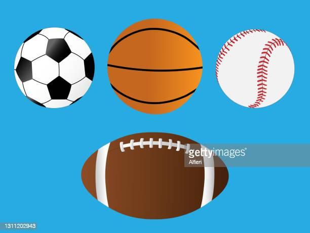 sports balls - football league stock illustrations