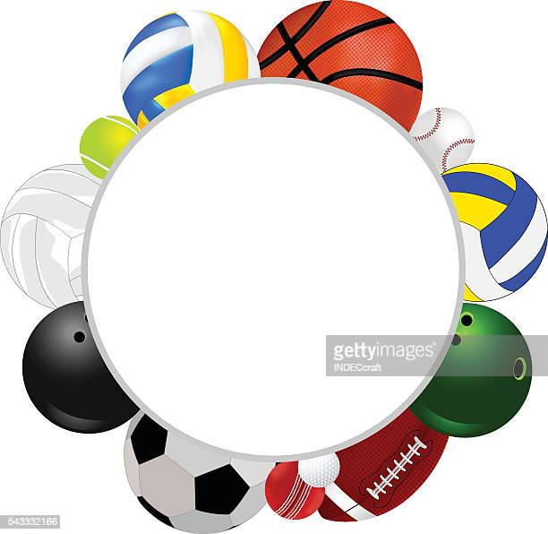 Sports Balls With Text Space