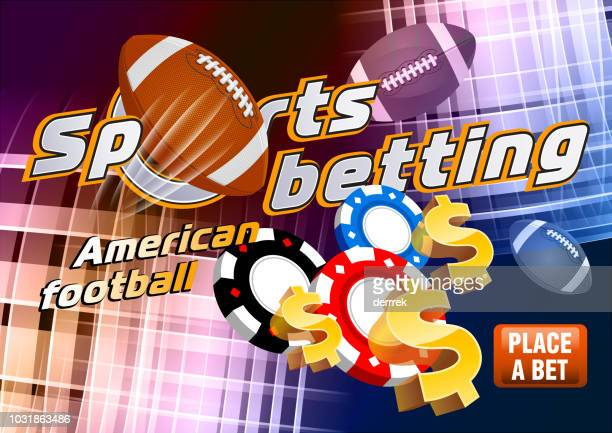 sports betting american football - bookmaker stock illustrations, clip art, cartoons, & icons