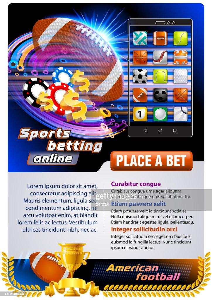 Apuestas deportivas apuestas fútbol americano : Ilustración de stock