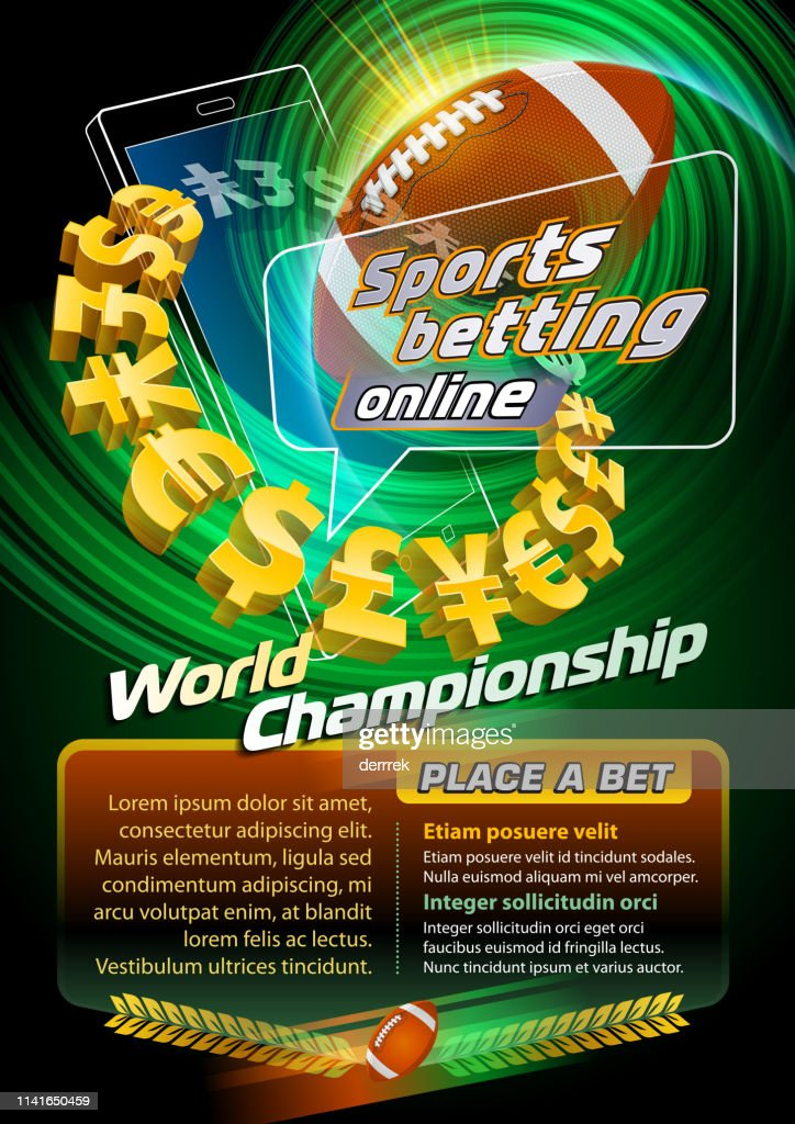 Sports betting american football : stock illustration