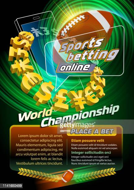 sports betting american football - bookmakers stock illustrations, clip art, cartoons, & icons