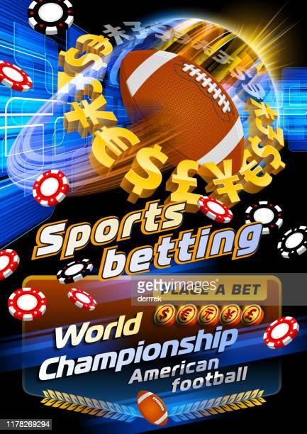 スポーツベッティングアメリカンフットボール - 中国元記号点のイラスト素材/クリップアート素材/マンガ素材/アイコン素材