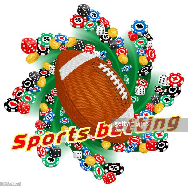 sports betting american football - tournament of champions stock illustrations, clip art, cartoons, & icons