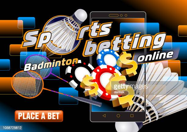 sports betting badminton - bookmakers stock illustrations, clip art, cartoons, & icons