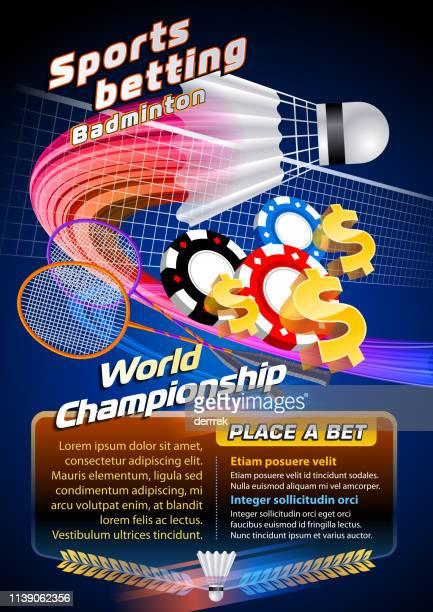 sports betting badminton - badminton racket stock illustrations, clip art, cartoons, & icons