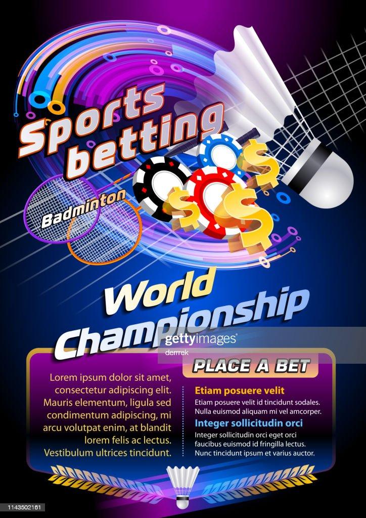 Sports betting badminton : stock illustration