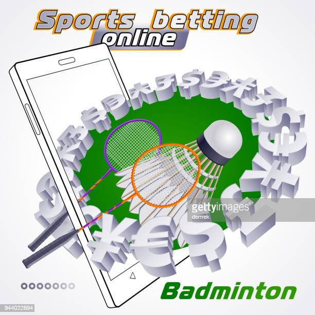 sports betting badminton - tournament of champions stock illustrations, clip art, cartoons, & icons
