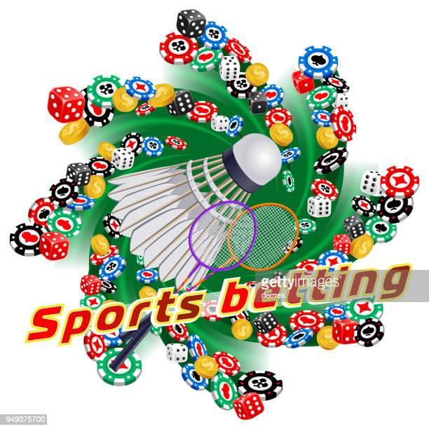 sports betting badminton - bookmaker stock illustrations, clip art, cartoons, & icons