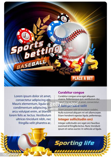 sports betting baseball - bookmakers stock illustrations, clip art, cartoons, & icons