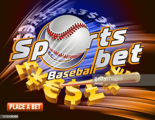 sports betting baseball - bookmaker stock illustrations, clip art, cartoons, & icons