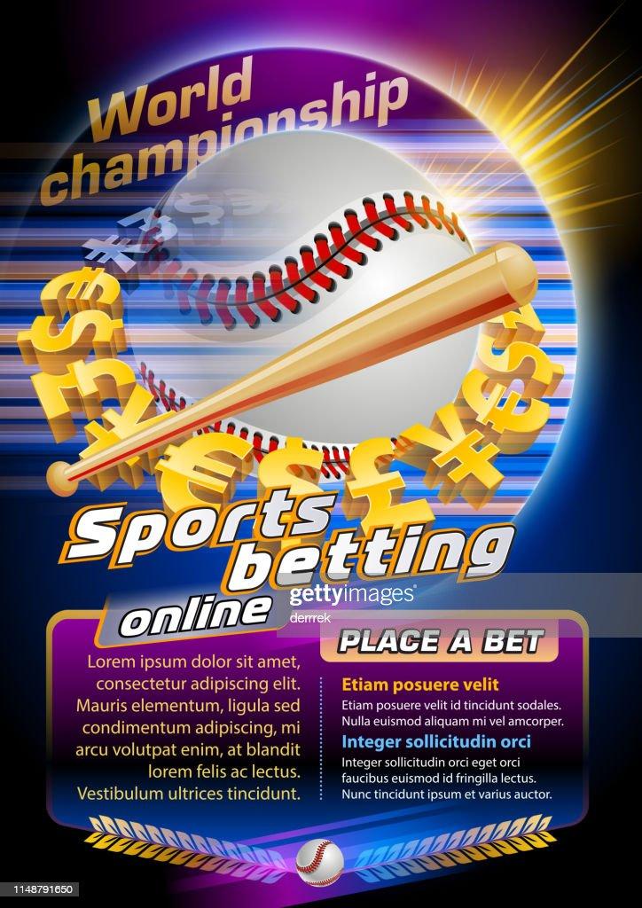 Sports betting baseball : stock illustration