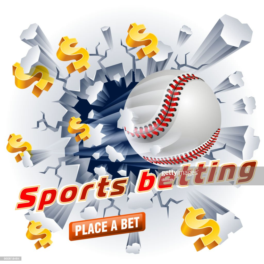 Sports betting baseball : stock illustration