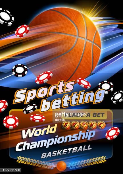 スポーツベッティングバスケットボール - 中国元記号点のイラスト素材/クリップアート素材/マンガ素材/アイコン素材
