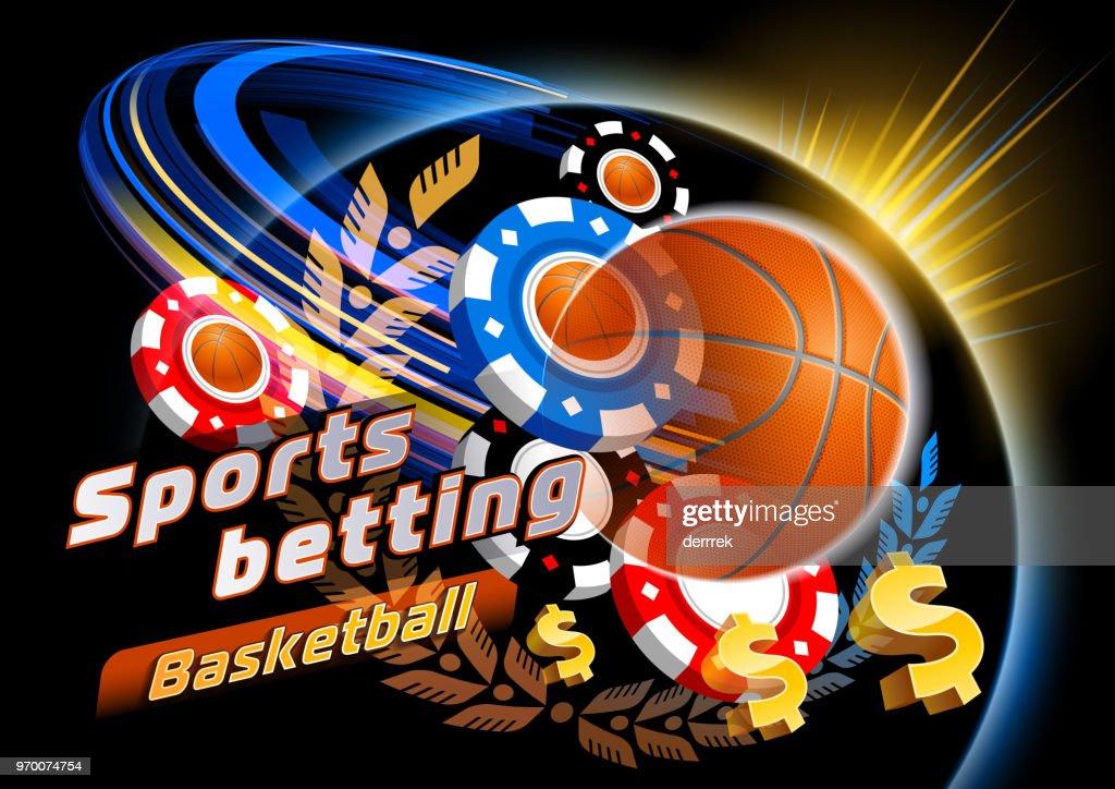 Sports betting basketball : stock illustration