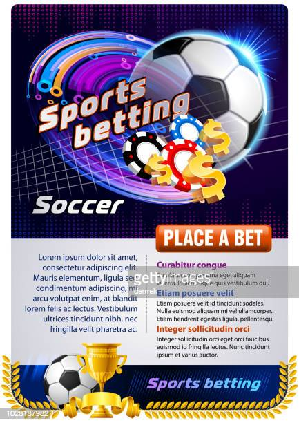sports betting soccer - bookmakers stock illustrations, clip art, cartoons, & icons