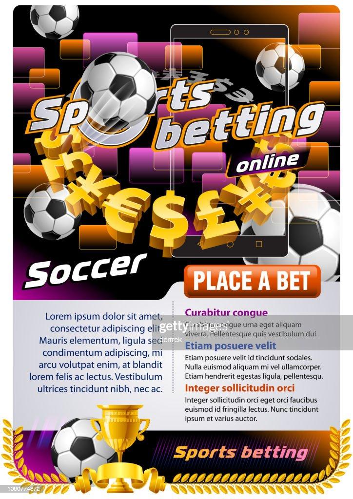 Sports betting soccer : stock illustration