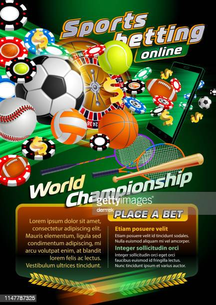 sports betting soccer - team sport stock illustrations