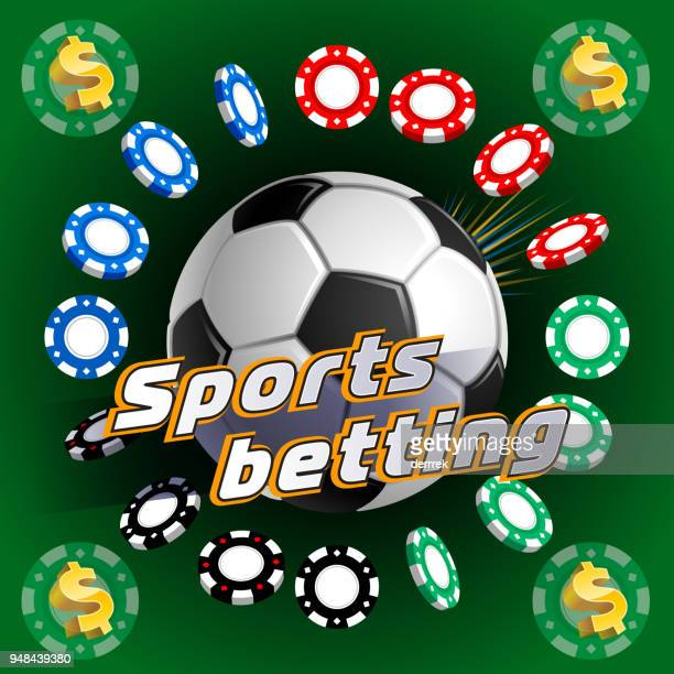 sports betting soccer - bookmaker stock illustrations, clip art, cartoons, & icons