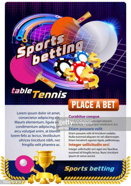 sports betting table tennis - table tennis tournament stock illustrations, clip art, cartoons, & icons