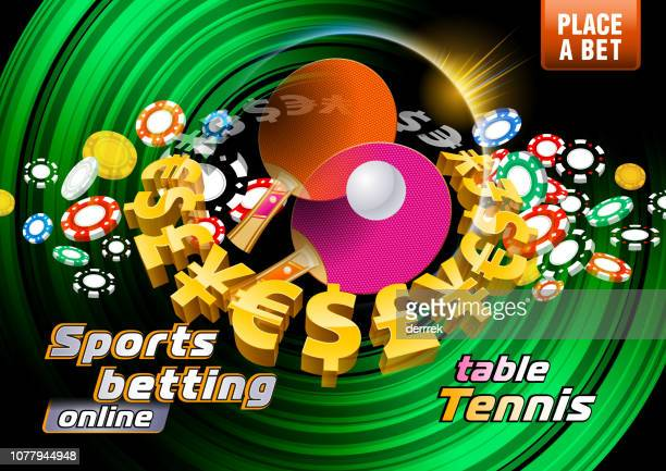 sports betting table tennis - bookmakers stock illustrations, clip art, cartoons, & icons