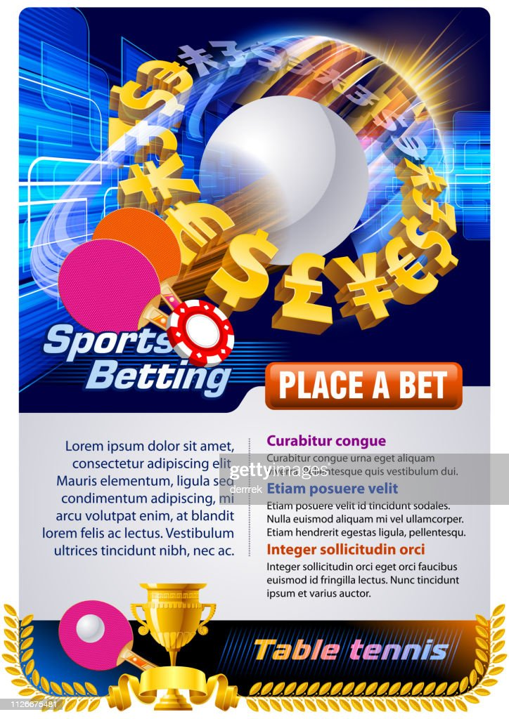 Sports betting table tennis : stock illustration