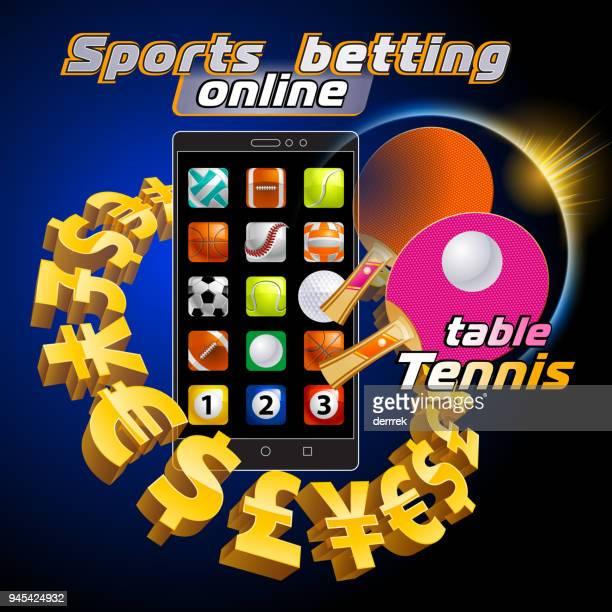 sports betting table tennis - badminton racket stock illustrations