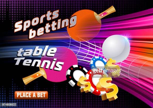 sports betting table tennis - tournament of champions stock illustrations, clip art, cartoons, & icons