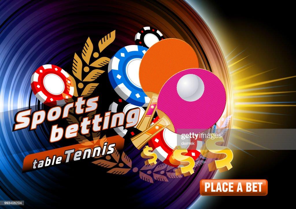 Sports betting table tennis : stock illustration