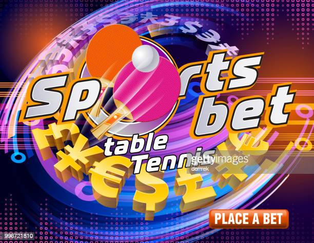 sports betting table tennis - bookmaker stock illustrations, clip art, cartoons, & icons