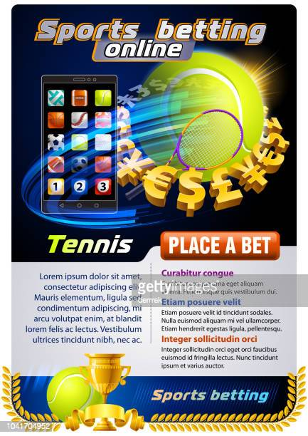 sports betting tennis - tournament of champions stock illustrations, clip art, cartoons, & icons