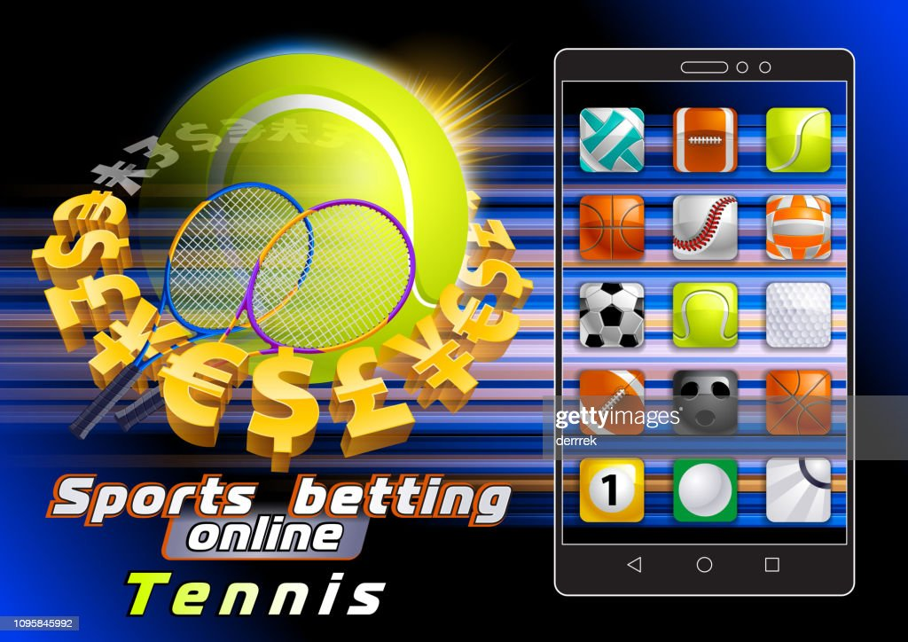 Sports betting tennis : stock illustration