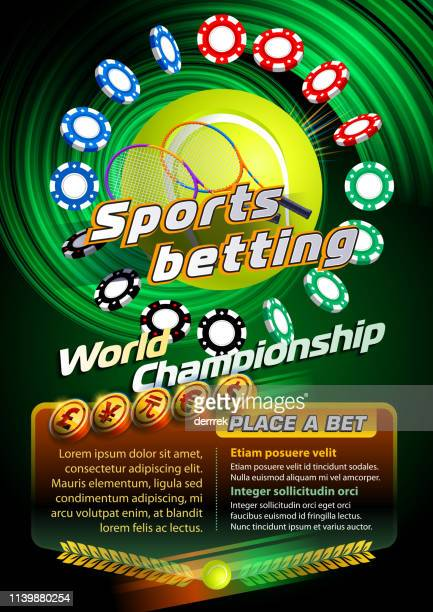 sports betting tennis - bookmaker stock illustrations, clip art, cartoons, & icons