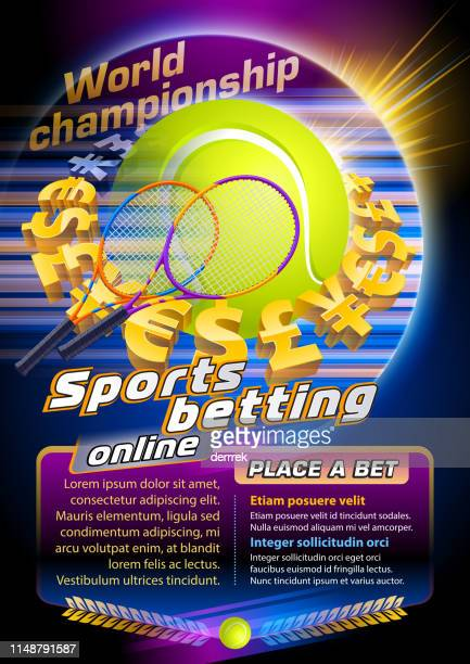 sports betting tennis - bookmakers stock illustrations, clip art, cartoons, & icons