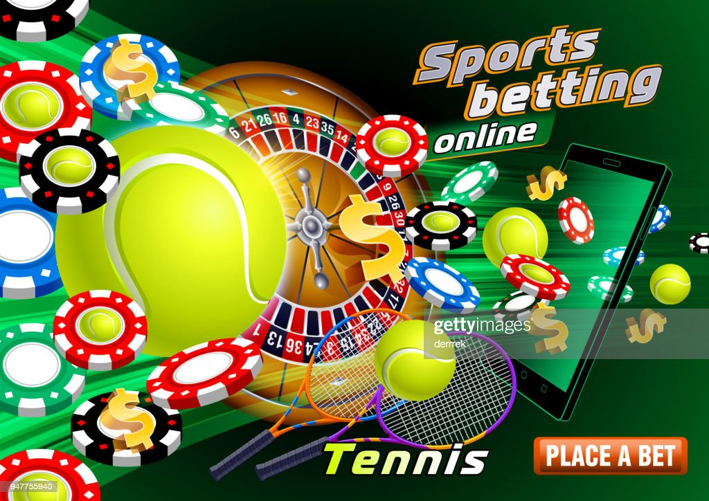 Sports betting tennis : stock illustration